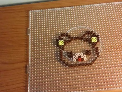 Tutorial Rilakkuma con le pyssla - hama beads  !!