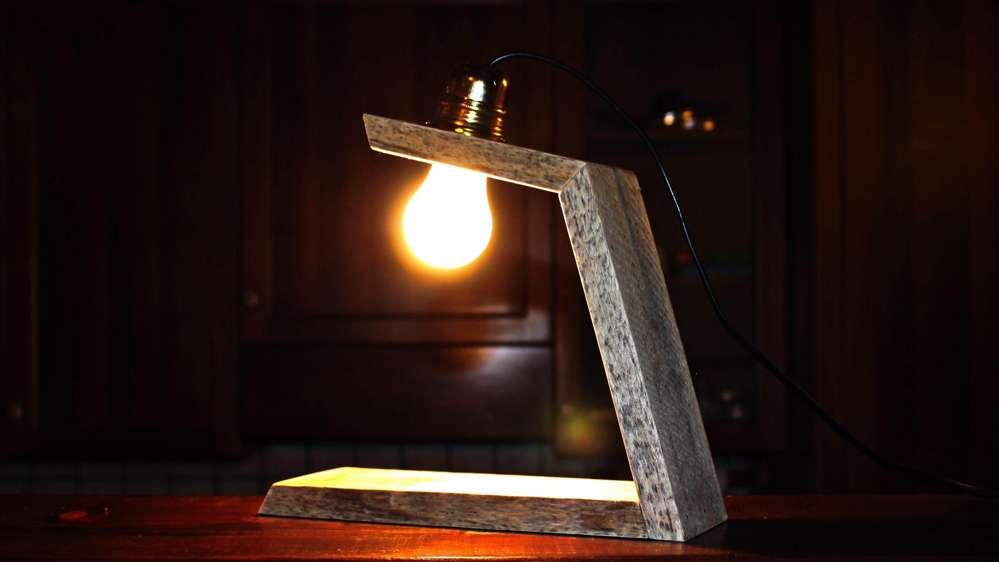 Wooden Lamp - Lampada in legno Fai Da Te DIY