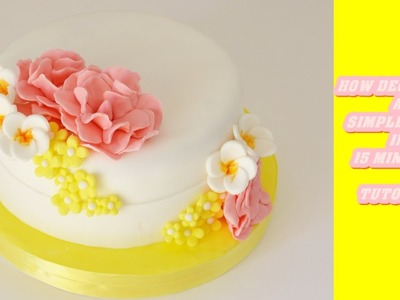 How decorate a simple cake with fondant in 15 minutes - come decorare una torta in 15 minuti