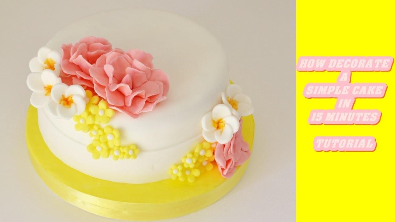 How decorate a simple cake with fondant in 15 minutes - come decorare una torta in 15 minuti