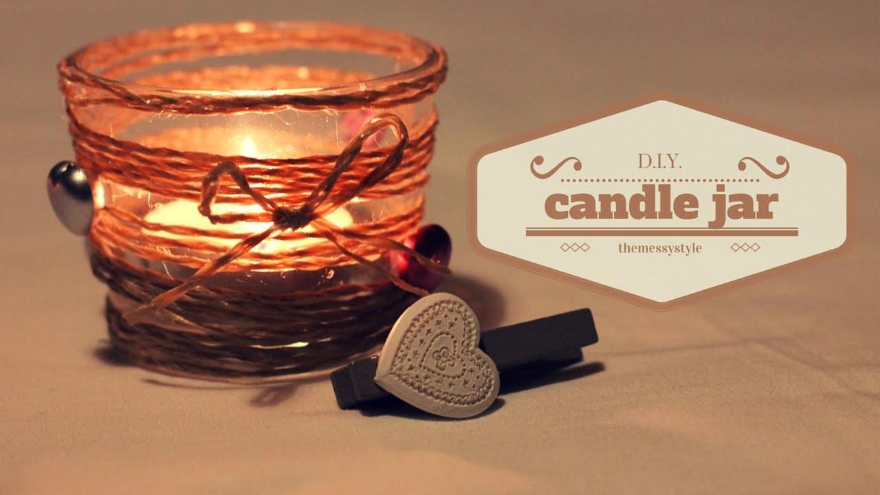 DIY Candle Jar | Riciclare i vasetti delle candele.  IDEA NATALE