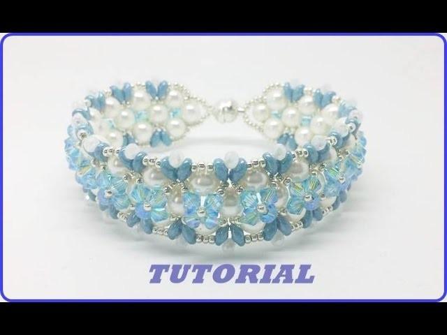 Bracciale Bibop. Come fare un bracciale con perle e swarovski. Tutorial perline