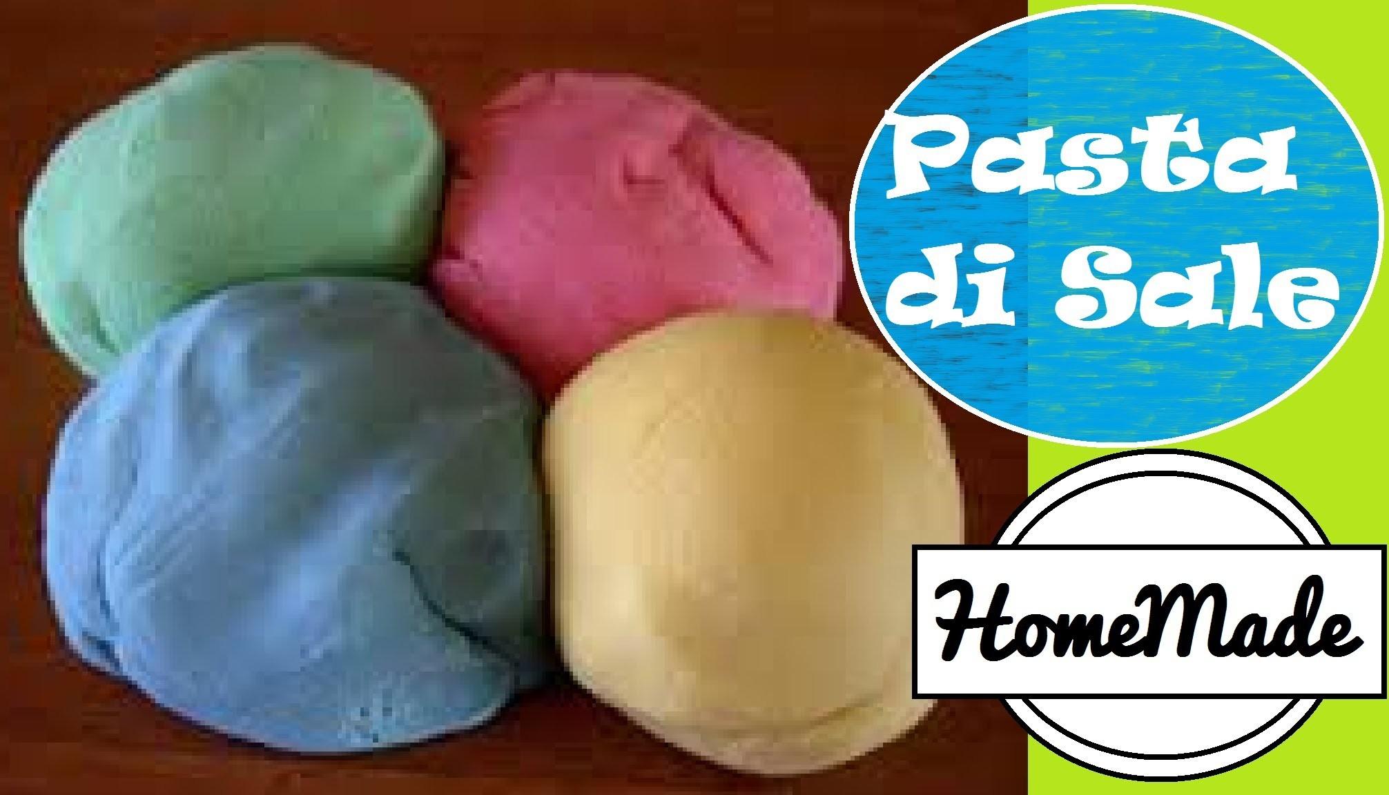 DIY - Pasta di sale da modellare fai da te - giochi per i  bimbi