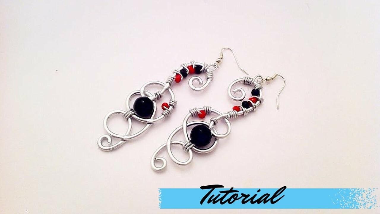 Tutorial \ Wire Kaotik Earrings \ Orecchini in Wire \ Alluminio, Pietre Dure