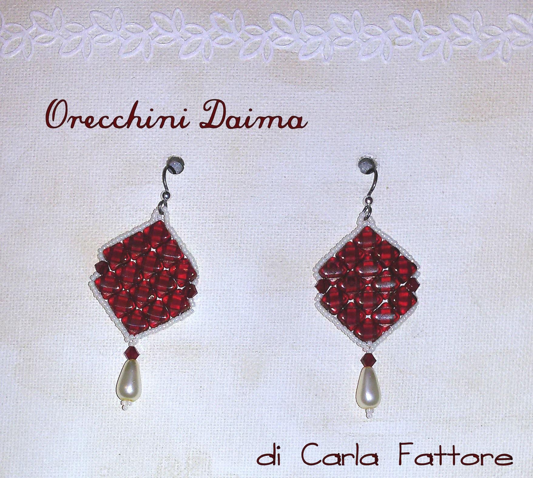 Tutorial orecchini Daima