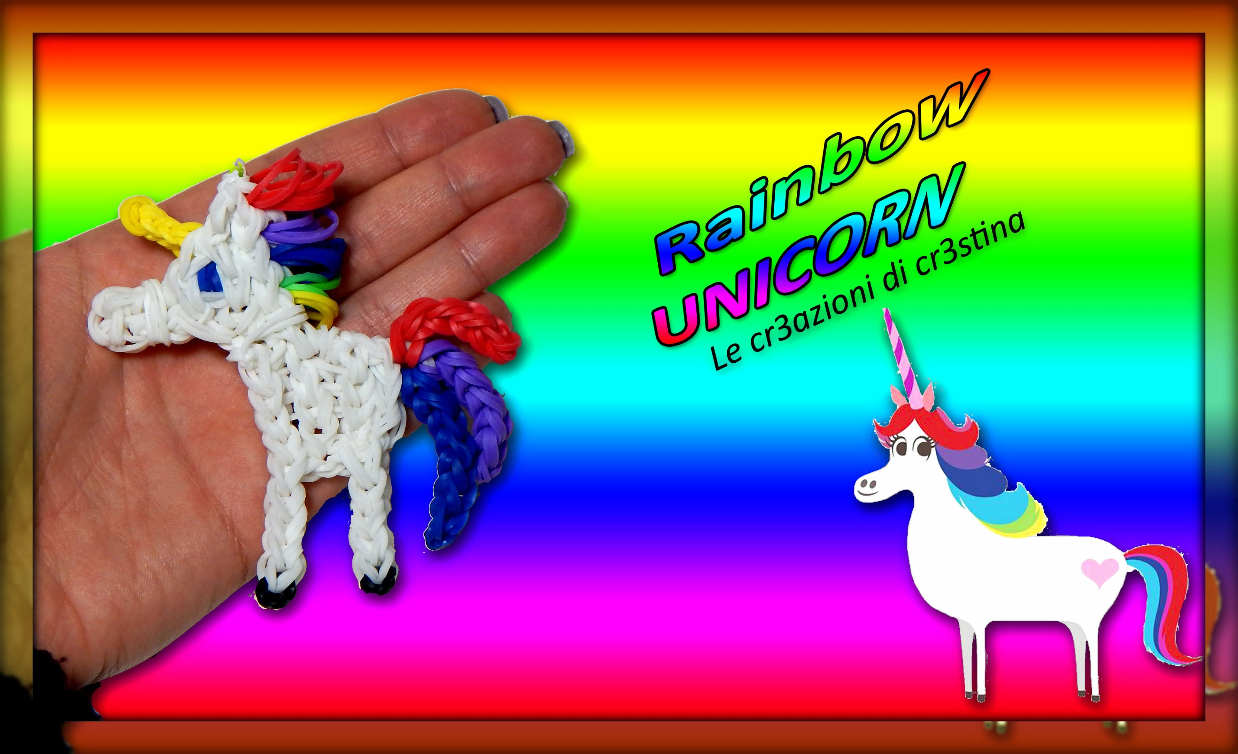 Unicorno Arcobaleno | My Little Pony | Cavallo con Elastici RAINBOW LOOM Tutorial