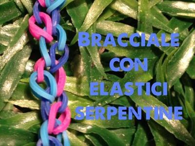 DIY bracciale con elastici serpentine bracelets