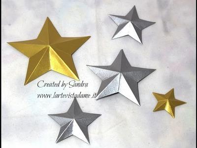 Stelle 3D Tutorial-3D Stars-Natale Fai da te-Christmas Packaging-SCRAPBOOKING Tutorial
