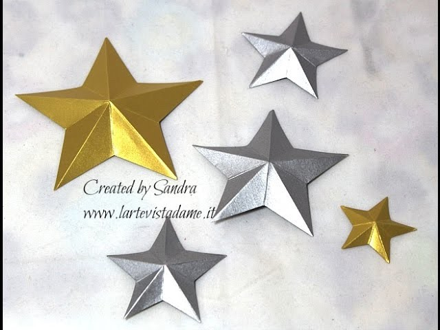 Stelle 3D Tutorial-3D Stars-Natale Fai da te-Christmas Packaging-SCRAPBOOKING Tutorial