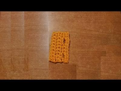 Come si fanno le asole all'uncinetto -   tutorial scuola uncinetto