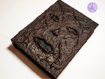 Tutorial: Scatola di legno 'Necronomicon' in cartapesta (papier mache Necronomicon) [eng-sub]