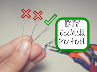 Come fare gli OCCHIELLI PERFETTI ✔ DIY perfect EYEPINS | TUTORIAL