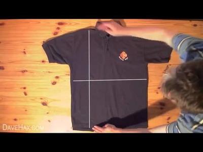 Piegare magliette e camicie in meno di 2 secondi