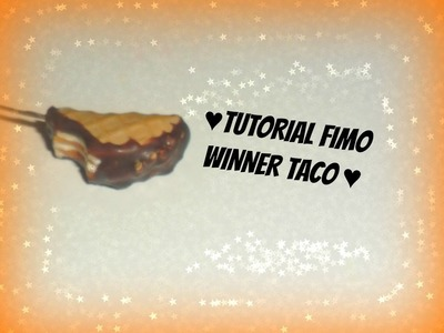 Tutorial Fimo gelato Winner Taco - Polymerclay tutorial icecream Winner taco