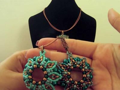 Video creazioni bijoux: ciondoli Laruna di Ewa e Modigliani di Jessy gioielli fai da te con superduo
