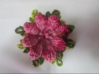 Crochet Uncinetto Fiore Girandola Doppia