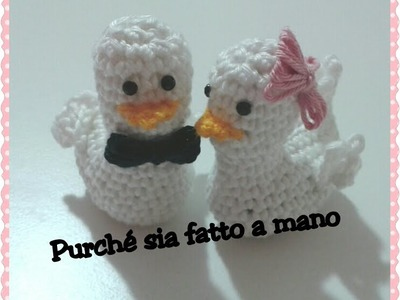 Paperotto.Pulcino AMIGURUMI all'uncinetto - Crochet Duck.Chick