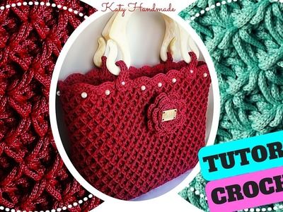 Tutorial crochet | Punto fiorellini in rilievo (o thai) uncinetto || Katy Handmade