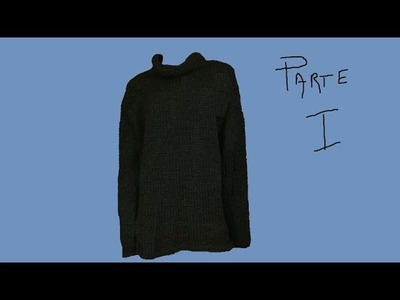 Maglione uomo ai ferri  parte I di II - How to Knit men's sweater -