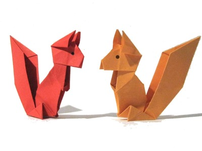 Origami Squirrel - Easy Origami Tutorial - How to make an origami squirrel