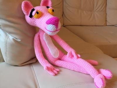 Pantera rosa Amigurumi (tutorial schema).How to crochet pink panther Amigurumi