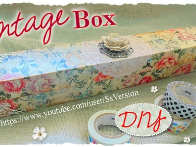 Tutorial: Astuccio.Scatola Vintage porta Washi Tape | Riciclo Creativo | DIY Washi Tape Organizer
