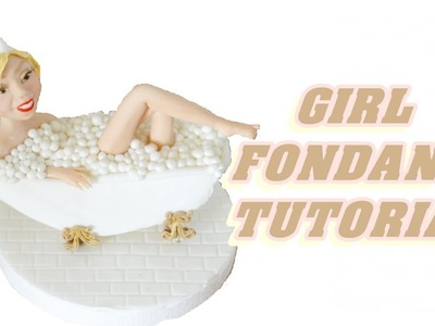 Tutorial GIRL CAKE TOPPER FONDANT sculpting a female viso e corpo in pasta di zucchero torta