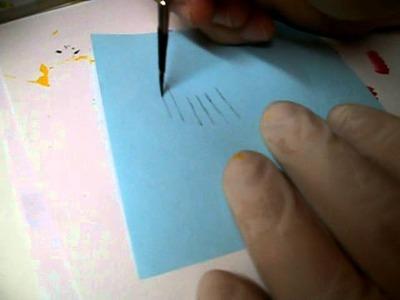 Come creare le linee fini con pennello tondo a punta zero-parte 5