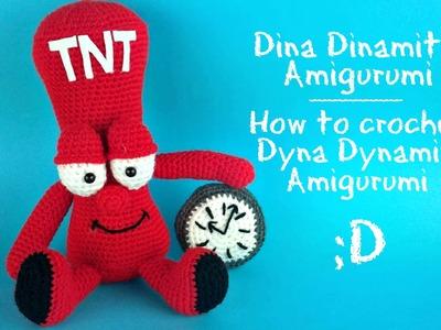 Dina Dinamite Amigurumi | How to crochet Dyna Dynamite