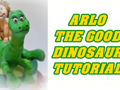 How to make ARLO THE GOOD DINOSAUR cake topper fondant il viaggio di Arlo pasta di zucchero torta
