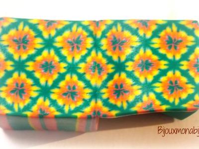 Tie dye kaleidoscopic cane