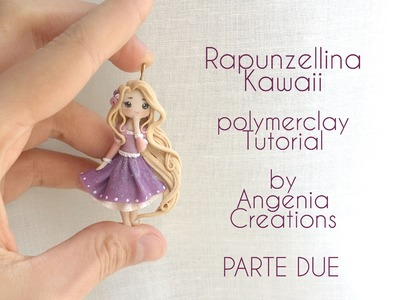 Tutorial angenioso - Creare una Rapunzellina kawaii in fimo - livello super base - parte 2
