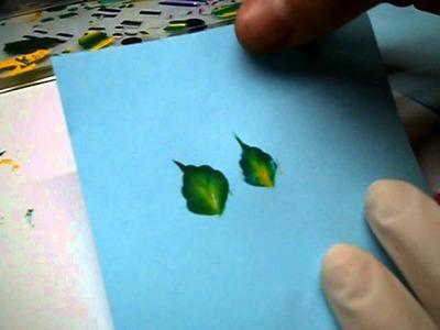 Vari tipi di foglie micropittura-parte 4