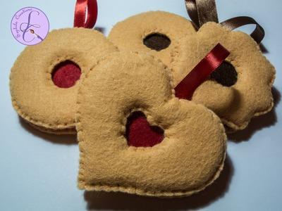 Tutorial: Occhio di bue in pannolenci (felt jam cookie) [sub-eng]
