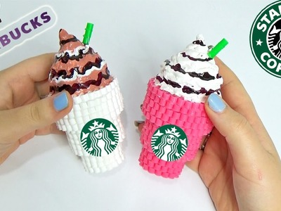 DIY Starbucks con Hama Beads | How To Make Starbucks with Perler Bead ✿