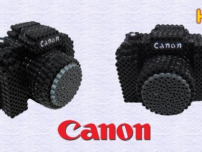 Fotocamera Canon 3D con Pyssla Hama Beads