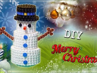 Pupazzo di Neve con Hama Beads.Perler Beads Snowman Tutorial !