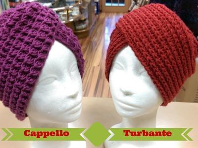 Tutorial: Cappello Turbante ai ferri e all'uncinetto - spiegazione punto costa americana ai ferri