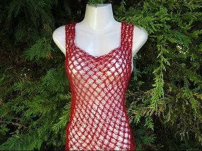 Uncinetto crochet blusa maglia estiva punto strega o punto segreto