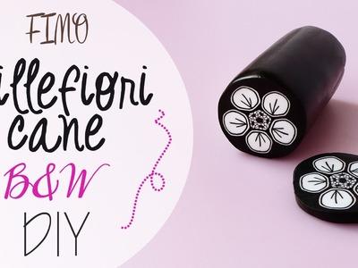 Tuto: Fimo Cane Fiore Bianco e Nero - DIY Fimo clay cane black&white