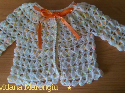 Tutorial Giacchina traforata all'uncinetto per bambina 18 - 24 mesi - cardigan all'uncinetto