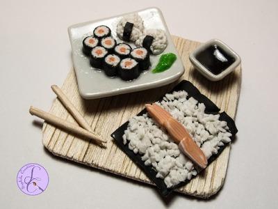 Tutorial: Hosomaki e Onigiri in Fimo (polymer clay sushi)