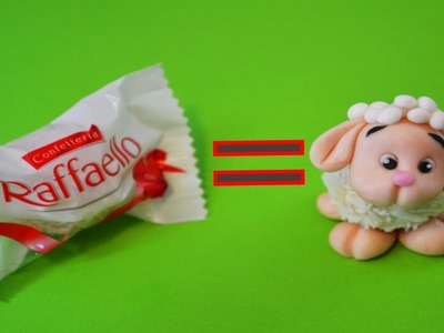 How to make SHEEP RAFFAELLO CAKE TOPPER FONDANT - tutorial pecorella pasta di zucchero torta