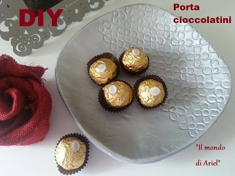 DIY PORTA CIOCCOLATINI IN 5 MiN,stile moderno,DAS pasta modellabile,idea regalo