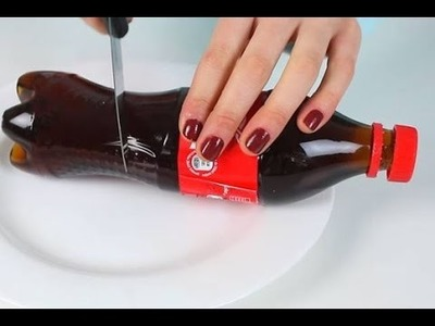 Come fare una bottiglia di coca cola gelatinosa,How to Make HUGE Gummy Coca Cola Bottle