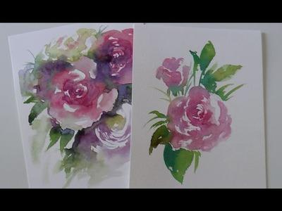 Acquerello Lezione n. 33: Come dipingere una Rosa con la tecnica del Bagnato su Asciutto