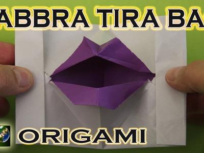 Origami facili e veloci. Labbra tira baci. Origami easy and fast. Bocca