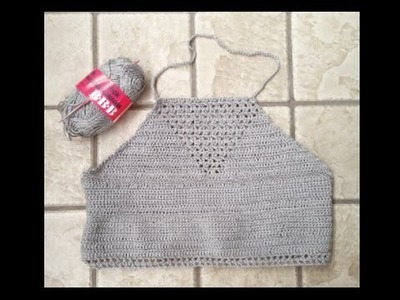 Come fare una canottiera all' uncinetto -- Crop top crochet