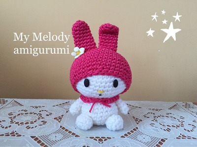 My melody Amigurumi (tutorial).How to crochet my melody