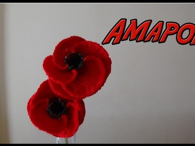 Amapola a crochet